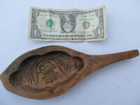 Fancy, Unusual Antique Wooden Butter Mold, Decorative Woodenware Paddle, Gift