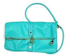 Steve Madden Green & Gold Purse Foldover Bag Aqua Medium Logo Crossbody