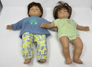 AMERICAN GIRL PLEASANT COMPANY MARK Itty bitty twins, boy girlBABY DOLLS 15 In