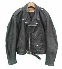 Schott NYC Men's Leather Zip Biker Coats & Jackets