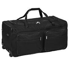 XXL Extra Large Travel Holdall Duffle Cargo Luggage Case Bag Suitcase 160l Black