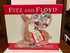 Fitz and Floyd Mingle, Jingle, Be Merry Christmas Deer Figurine w/ Original Box