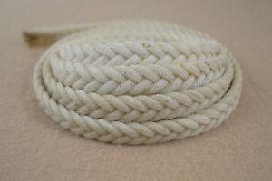 "Braided Wax Nylon Strip - 5/8"" x 8' - 5 Plat (H45)"