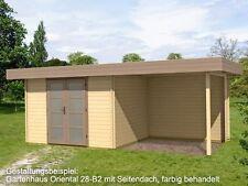 Gartenhäuser mit 10,1-24m² Fläche und 20-28mm Wandstärke