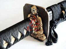 "40.6""clay tempered kobuse blade Buddha tsuba jp katana sword sharp battle ready"