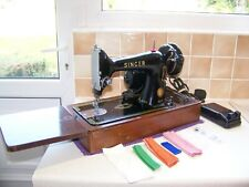 VINTAGE SINGER 99K HEAVY DUTY ELECTRIC SEWING MACHINE,EXPERTLY SERVICED,