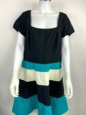 eshakti dress custom green black colorblock pockets size 14