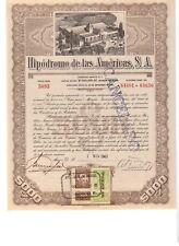 Mexico: Hipodromo de la Americas S.A. 1943