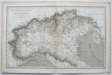1806 ANTICO ALPINE NORD ITALIA ANTICA MAPPA da Macpherson