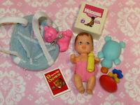 Mattel Barbie Doll Accessory Lot BABY CHRISSY KRISSY CRISSY Brunette Accessories