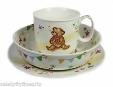 Little Bear China Feeding Set Cup Bowl Plate for Baby Toddler Child Present Gift
