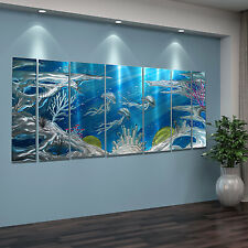 Abstract Modern Painting  Metal Wall Art Home Decor - Deep Blue Sea by Jon Allen