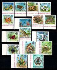 Seychelles 1980 Mi. 1-16 MNH 100% flora, fauna, birds, butterfly