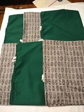 52x22 Standard Daycare cot sheets solid green / grey gloves print set of 6