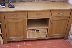 Solid Oak sideboard, rustic Shaker style