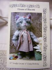 "12""Scruffy Cat and 6""Cindy Birdsong PATTERN"