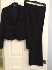 Ladies Black (with Paisley background) Suit by Express Design Studio (size 10)