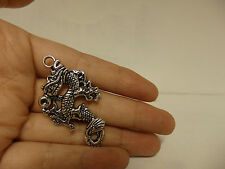 10 dragon pendant charm tibetan silver antique style jewellery wholesale craft