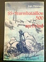 SS-STURMBATAILLON 500, Ingo Petersson, $39.00, German Text!