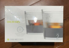 New 2 HOST Whiskey FREEZE Gray Cooling Cups 9oz