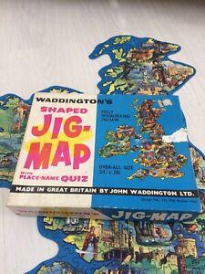 Waddingtons Vintage Jig Map Jigsaw of The British Isles Original Box & Complete