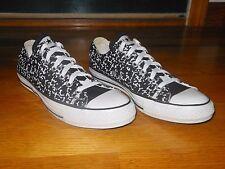 Converse All Star Lo black + white sneakers - Women's sz 10 M - EX condition