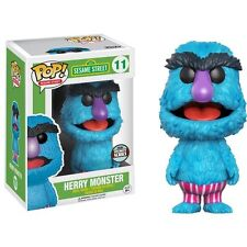 "Exclusivo Sesame Street Herry Monster 3.75"" Vinilo Pop Figura Funko 11 Totalmente Nuevo"