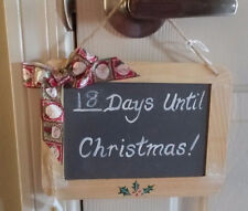 Count Days To Christmas advent chalkboard sign Great Gift for Child