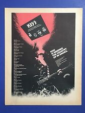 KISS Original, Vintage Aucoin era 1974 w/Tour Dates & First LP release 11X14 Ad