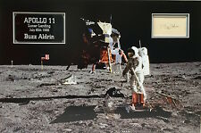 BUZZ ALDRIN Signed 22X15 APOLLO 11 MISSION Photo Display 2nd MAN ON MOON  COA