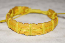 New Fair Trade Hand Made Leather Friendship Bracelet - Hippy Ethnic Festival Emo