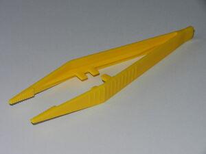 Pk of 5 - Plastic Tweezers 'Suregrip' design - Yellow