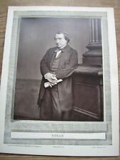 RENAN cliché photoglyptie de ADAM-SALOMON Galerie Contemporaine vers 1880