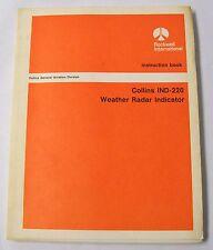 Collins IND-220 Weather Radar Indicator Original Instruction Book