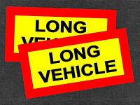 2 x LONG VEHICLE VINYL STICKERS DECALS SIGNS CAR TRUCK TRAILER LORRY VAN +