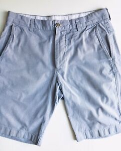 J. Crew Club Shorts, Blue-White Pinstripes, Size 31, 10-1/2-inch Inseam