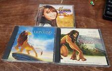 DISNEY CDS Tarzan + The Lion King + Hannah Montana The Movie Soundtrack Lot