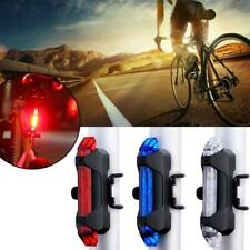 LED Bike Bicycle Tail Red Light Cycling Back Multi Rechargeable USB LED Colour