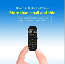 Tiny Small Mini Micro Mobile Cell Phone Unlock GSM Sim Bluetooth Headset US