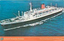 Holland America Cruises Cruise Line Ship  Statendam Postcard 1973