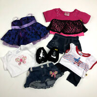 Build A Bear Clothes Dress Butterfly Shirt Skirt USA shirt Justice Shoes