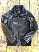 Yohji Yamamoto Y-3 Black Leather Jacket Sz. M