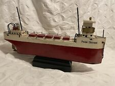 Vintage hand-made Great Lakes model pond boat - Frank Seither ore ship