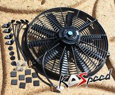 "UNIVERSAL BLACK 16""12V ELECTRIC RADIATOR/ENGINE COOLING FAN+MOUNTING ZIP TIE KIT"
