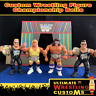 WWF Retro Custom Wrestling Belt Set x 4 for Hasbro/Mattel/Jakks Figures