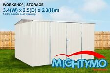 Garden Shed 3.4 x 2.5 x 2.3m Storage, Backyard, Tool Sheds with Double Door