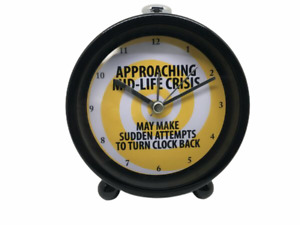 Enesco Our Name is Mud - Midlife Crisis Battery Operated Alarm Clock