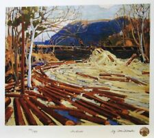 Tom THOMSON Group of Seven The Drive - Mill LE art print MINT Northern Ontario