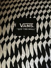 "VANS OFF The WALL Black White CHECKERED Throw Blanket 50"" x 62"" Promotional Item"