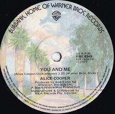 Alice Cooper ORIG OZ 45 You and me EX '77 Warner WBS8349 Hard Rock